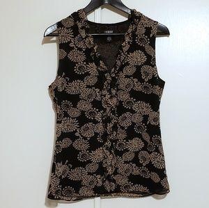 GORGEOUS laundry by Shelli Segal Floral Ruffle Top